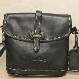 Dooney Black Leather Flap Crossbody